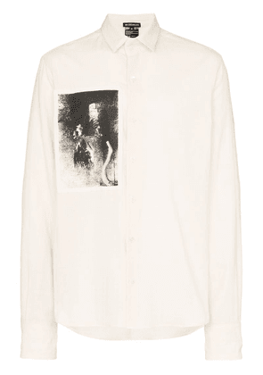 Ann Demeulemeester printed patch shirt - Neutrals