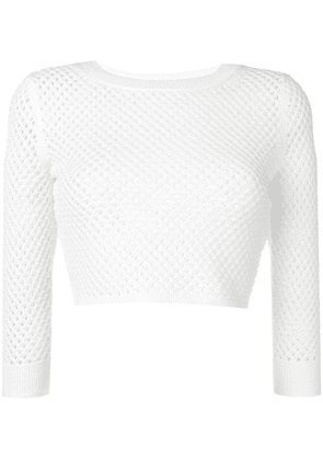 Dodo Bar Or cropped knit sweater - White