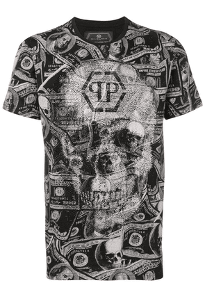 Philipp Plein Dollar print T-shirt - Black