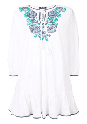 Twin-Set embroidered detail dress - White