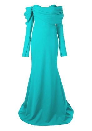 Christian Siriano off-the-shoulder gown - Blue