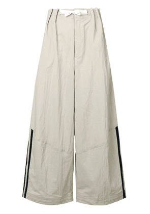 Y-3 side stripe trousers - Neutrals