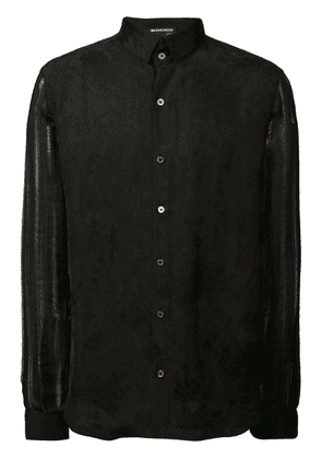 Ann Demeulemeester sheer sleeve shirt - Black