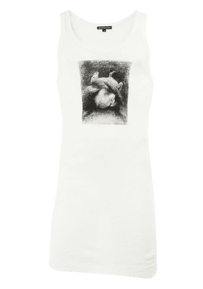 Ann Demeulemeester graphic print tank top - White