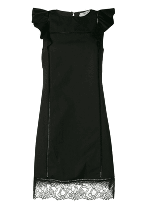 Twin-Set frill sleeve dress - Black