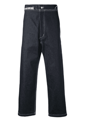 Camiel Fortgens contrast stitching jeans - Blue