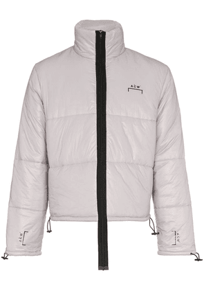 A-Cold-Wall* logo quilted puffer jacket - Grey