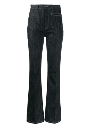 Moncler high-waisted flared jeans - Blue