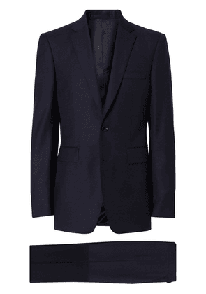 Burberry Classic Fit Wool Suit - Blue