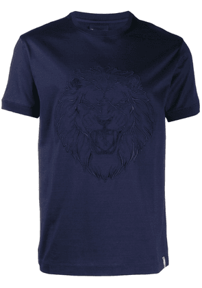 Billionaire lion print T-shirt - Blue