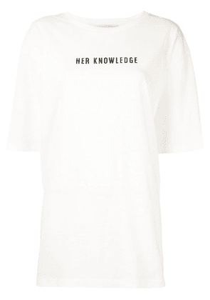 By. Bonnie Young oversized graphic print T-shirt - White