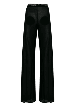 Courrèges semi-sheer lounge pants - Black