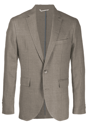 Hackett checked single-breasted blazer - Brown