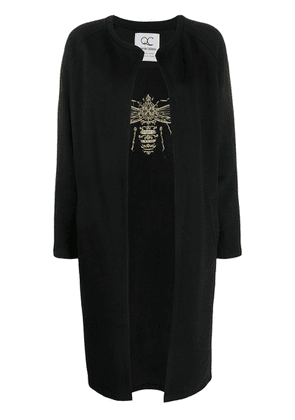 Quantum Courage Queening embroidered cardigan - Black