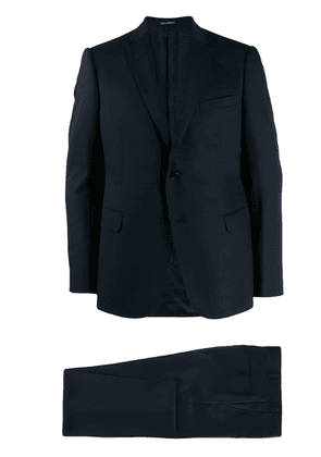Emporio Armani slim-fit two-piece suit - Blue