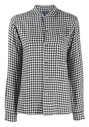 Blue Blue Japan gingham check shirt - Black
