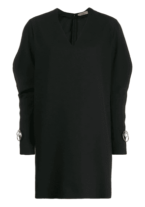 Coliac pearl-detail batwing sleeve dress - Black
