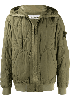 Stone Island quilted hooded jacket - Green