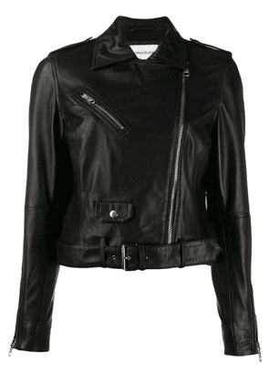 Calvin Klein Jeans leather biker jacket - Black
