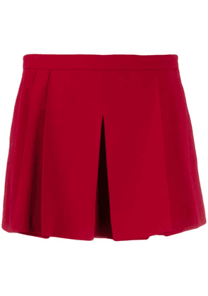 Red Valentino pleated layered style shorts