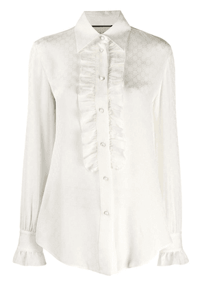 Gucci jacquard blouse - White