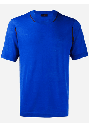 Joseph short-sleeve fitted sweater - Blue