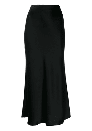 Galvan satin evening dress - Black
