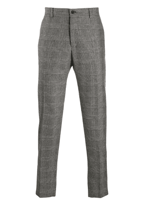 Dolce & Gabbana tapered houndstooth trousers - Grey