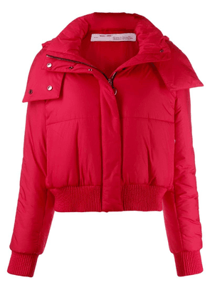 Off-White short puffer jacket - Red