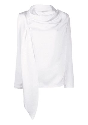 Gianluca Capannolo draped long sleeved top - White
