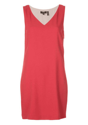 Theory V-neck dress - Red