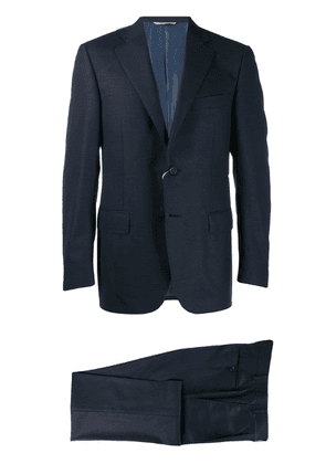 Canali single-breasted wool suit - Blue