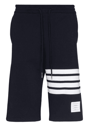 Thom Browne striped cotton-jersey shorts - Blue