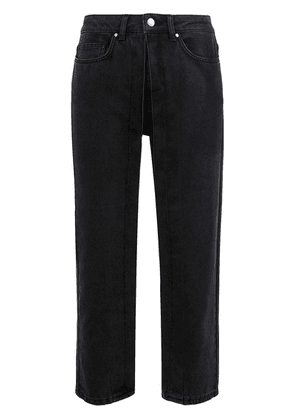 Aalto layered front cropped denim jeans - Black