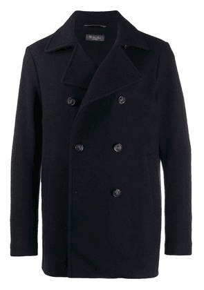 Loro Piana Giubbino double breasted coat - Blue