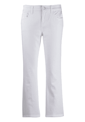 Current/Elliott cropped flare jeans - White