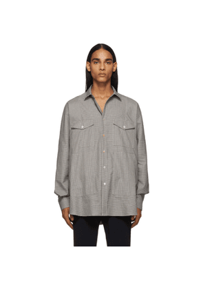 Paul Smith Black and White Micro Houndstooth Shirt