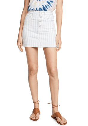 Madewell Stripe Button Front Frisco Skirt