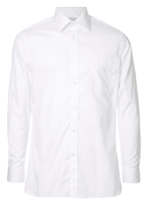 Gieves & Hawkes long-sleeve fitted shirt - White