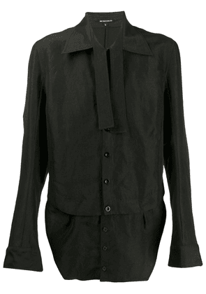 Ann Demeulemeester layered shirt - Black