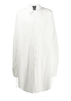Ann Demeulemeester oversized long shirt - White