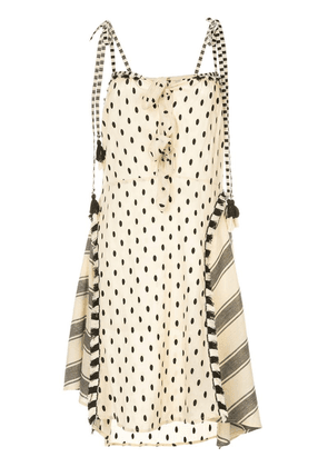 Dodo Bar Or polka-dot midi dress with knots - Neutrals
