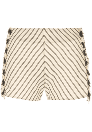 Dodo Bar Or striped shorts - Neutrals