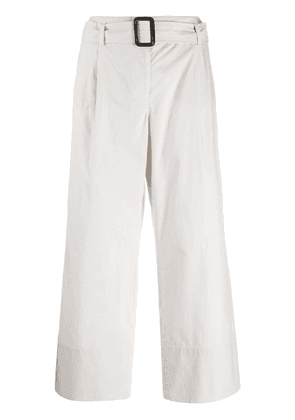 'S Max Mara belted cropped chinos - Neutrals