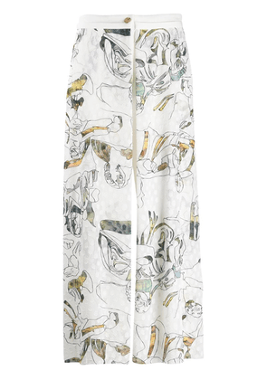 Chalayan embroidered trousers - White