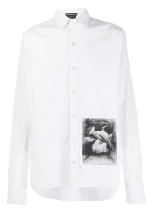 Ann Demeulemeester graphic shirt - White