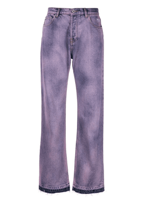 MSGM dyed jeans - Purple
