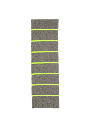 Paul Smith Grey and Yellow Neon Neutral Scarf