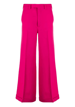 Gucci high-rise flared trousers - Pink