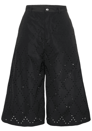 Moncler perforated detail trousers - Black